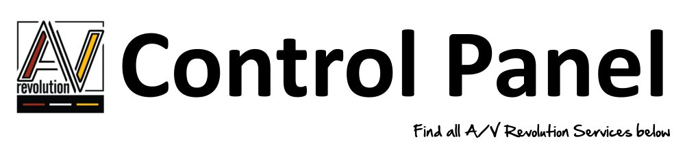 Control Pannel Banner